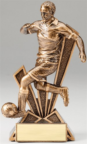 Male Soccer Checkmate Bronze Resin Trophy Award - 6 1/2''