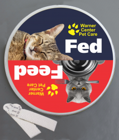Feed the Cat Wallminder Sign - 4''