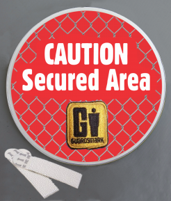 Caution: Secured Area Wallminder Sign - 4''