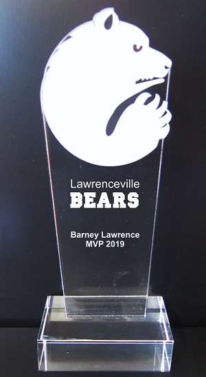 Bear Mascot Acrylic Trophy Award - 9-1/2''