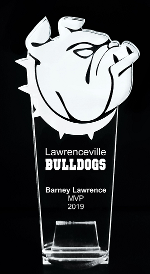 VALUE LINE Bulldog Mascot Acrylic Trophy Award - 8''