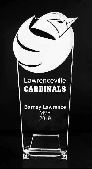 VALUE LINE Cardinal Mascot Acrylic Trophy Award - 8''