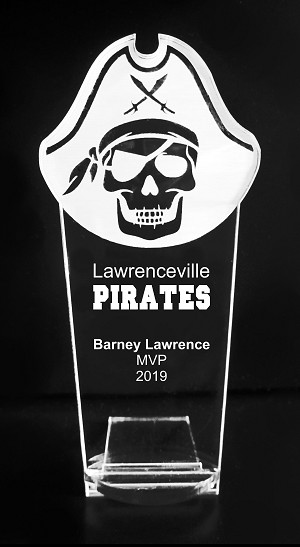 VALUE LINE Pirate Mascot Acrylic Trophy Award - 8''