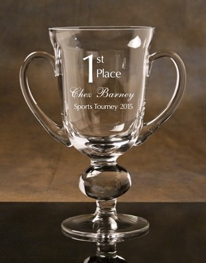 Champion Crystal Cup Trophy Award (THREE SIZES)