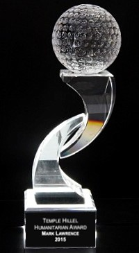 Dynamic Golf Tee Crystal Trophy Award - 11