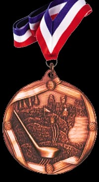 Bronze Sports Medal with Neck Ribbon