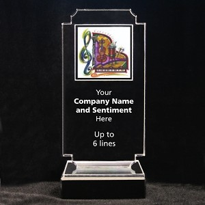 Retro Music Acrylic Full-Color Trophy - Orchestra