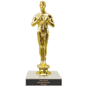Single Figurine Trophy on Marble Base - 6