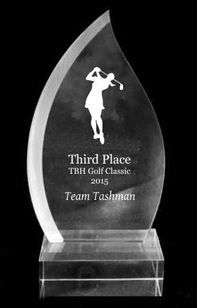 Tear Drop Acrylic Trophy Award